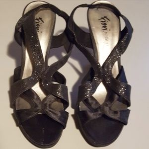 Shoes - Fioni night sparkly black heels size 9
